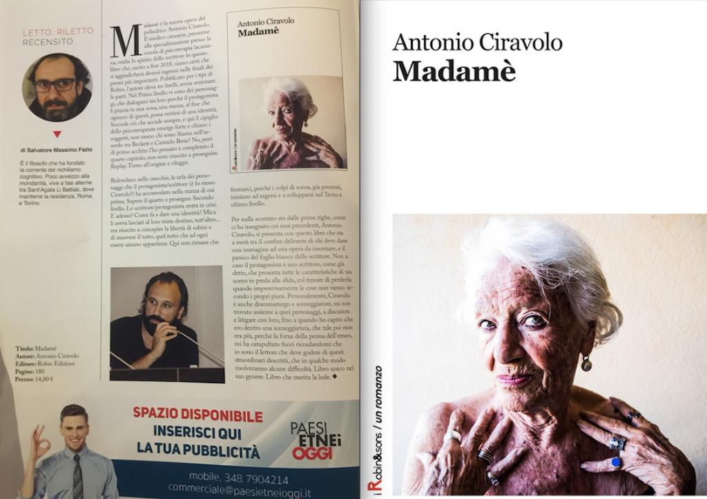 Antonio-Ciravolo---Madamè---Robin-edizioni---Le-recensioni-in-LIBRIrtà