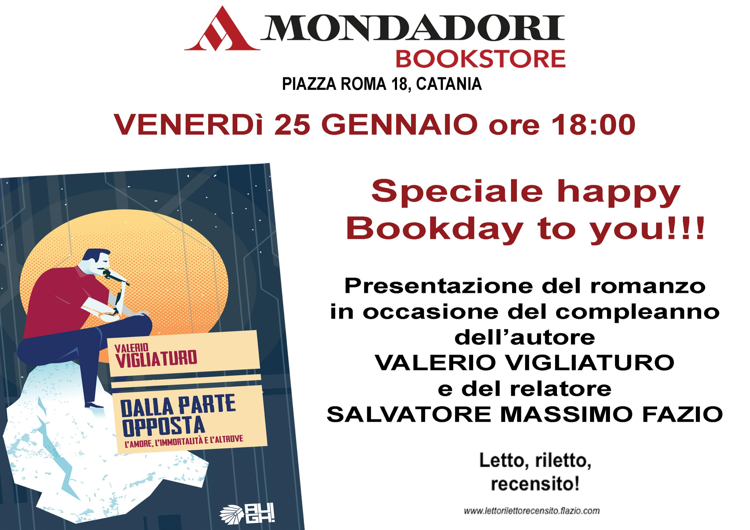 Valerio Vigliaturo in tour a Catania il 25 gennaio, presso la Mondadori di Piazza Roma