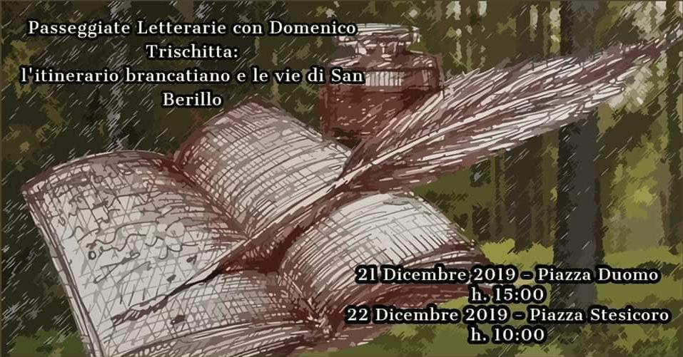 Tornano le passeggiate letterarie con lo scrittore Domenico Mimmo Trischitta