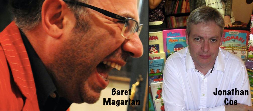 Jonathan Coe in Italia il 15 gennaio a Milano, il 16 a Roma per l'amico Baret Magarian